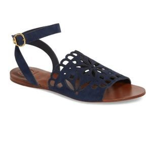 NEW Tory Burch May Perforated Sandal 8 Blue